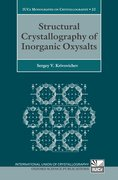Cover for Structural Crystallography of Inorganic Oxysalts