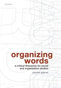 Cover for Organizing Words