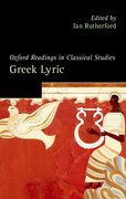 Cover for Oxford Readings in Greek Lyric Poetry