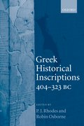 Cover for Greek Historical Inscriptions, 404-323 BC
