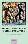 Cover for Music, Language, and Human Evolution
