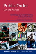 Cover for Public Order: Law and Practice - 9780199227976