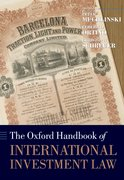 Cover for The Oxford Handbook of International Investment Law