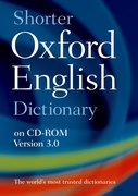 Shorter Oxford English Dictionary 6th Edition on CD-ROM Windows/Mac Individual User Version 3.0