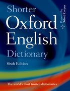 Cover for Shorter Oxford English Dictionary