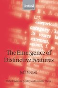Cover for The Emergence of Distinctive Features