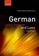 Cover for German Legal System and Laws