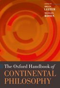 Cover for The Oxford Handbook of Continental Philosophy