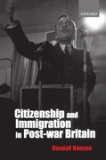 Cover for Citizenship and Immigration in Post-war Britain
