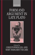 Cover for Form and Argument in Late Plato