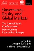 Governance, Equity, and Global Markets The Annual Bank Conference on Development Economics - Europe