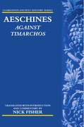 Cover for Aeschines: <em>Against Timarchos</em>