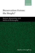 Cover for Preservation Versus the People
