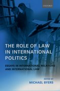 Cover for The Role of Law in International Politics