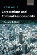 Cover for Corporations and Criminal Responsibility