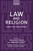 Cover for Law and Religion