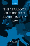 Cover for Yearbook of European Environmental Law