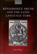 Cover for Renaissance Truth and the Latin Language Turn