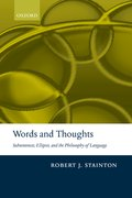 Cover for Words and Thoughts