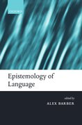 Cover for Epistemology of Language