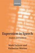 Expression in Speech Analysis and Synthesis
