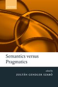 Cover for Semantics versus Pragmatics