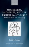 Cover for Modernism, Magazines, and the British avant-garde