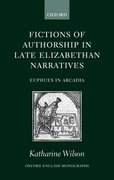 Cover for Fictions of Authorship in Late Elizabethan Narratives