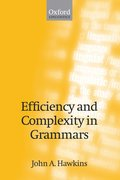 Cover for Efficiency and Complexity in Grammars
