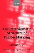 Cover for The Paradigmatic Structure of Person Marking