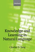 Cover for Knowledge and Learning in Natural Language