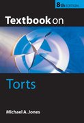 Cover for Textbook on Torts