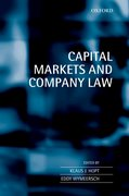 Cover for Company Law and Financial Markets