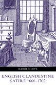 Cover for English Clandestine Satire, 1660-1702