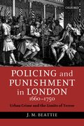 Cover for Policing and Punishment in London, 1660-1750