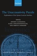 Cover for The Unaccusativity Puzzle