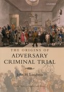 Cover for The Origins of Adversary Criminal Trial