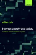 Cover for Between Anarchy and Society