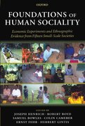 Cover for Foundations of Human Sociality