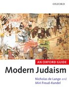 Cover for Modern Judaism