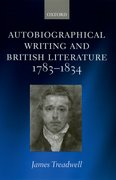 Cover for Autobiographical Writing and British Literature, 1783-1834