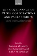 Cover for The Governance of Close Corporations and Partnerships