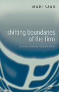 Cover for Shifting Boundaries of the Firm
