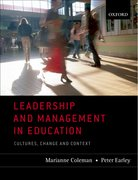 Cover for Leadership and Management in Education