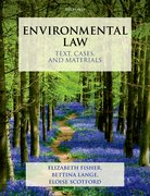 Cover for Environmental Law: Text, Cases & Materials