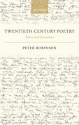 Twentieth Century Poetry Selves and Situations