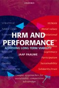 Cover for HRM and Performance