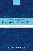 Cover for Two Models of Jewish Philosophy