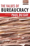 Cover for The Values of Bureaucracy