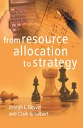 Cover for From Resource Allocation to Strategy